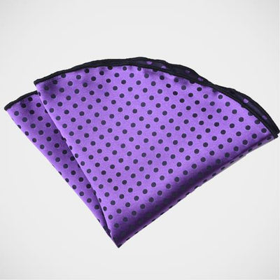 'Satin Dot - Purple' Pocket Circle