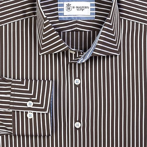 H. Halpern Esq. 'Mitre in Brown' Sport Shirt