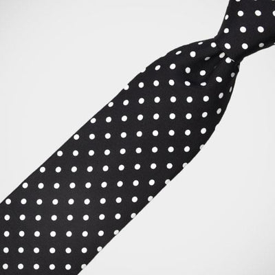 H. Halpern Esq. 'Black with White Dots' Tie