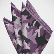 H. Halpern Esq. 'Camo Purple' Pocket Square