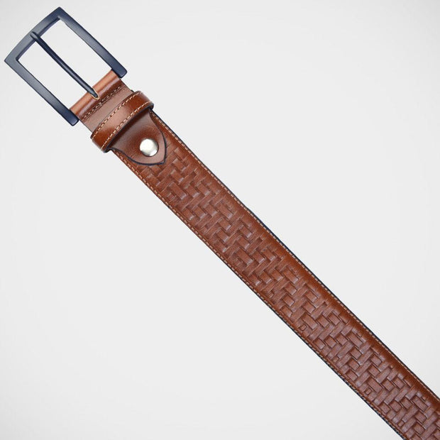 H. Halpern Esq. 'Cognac Basketweave' Belt