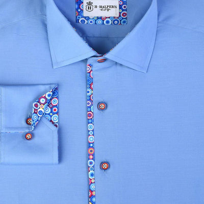 H. Halpern Esq. 'Bubbles on Blue' Dress Shirt.