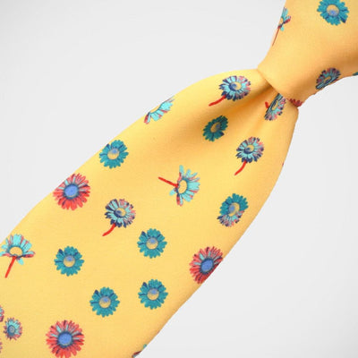 H. Halpern Esq. 'Yellow with Daisies' Tie