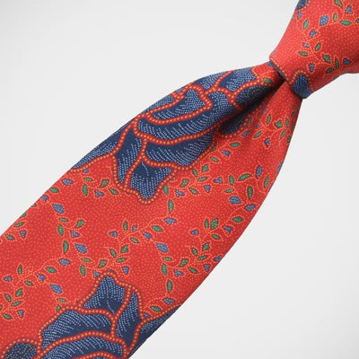 H. Halpern Esq. 'Blue Roses on Red' Tie