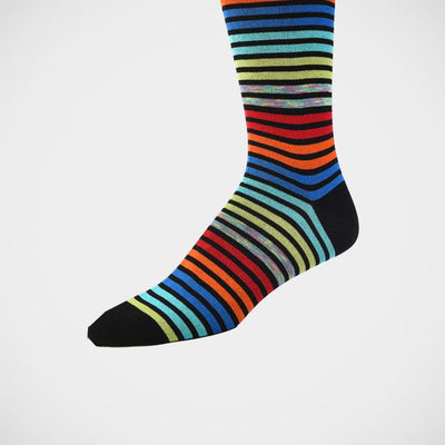 Bugatchi 'Varied Stripes on Black' Socks