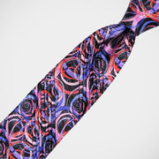 Vitaliano 'Pleated Swirls in Pink & Purple' Tie