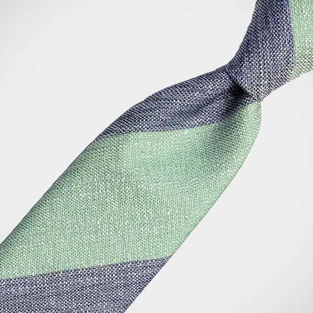 H. Halpern Esq. 'Bold Stripe in Green & Navy' Tie