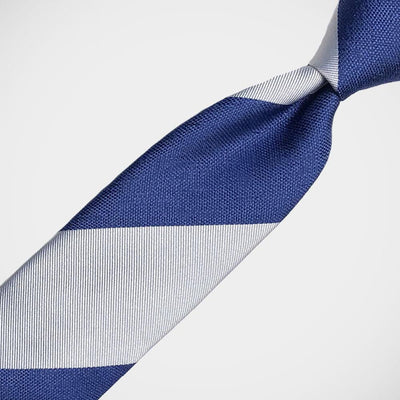 H. Halpern Esq. 'Bold Stripe in Blue and Silver' Tie