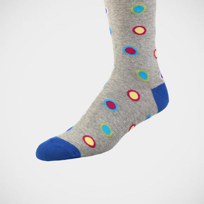 H. Halpern Esq. 'Fun Dots on Grey' Socks