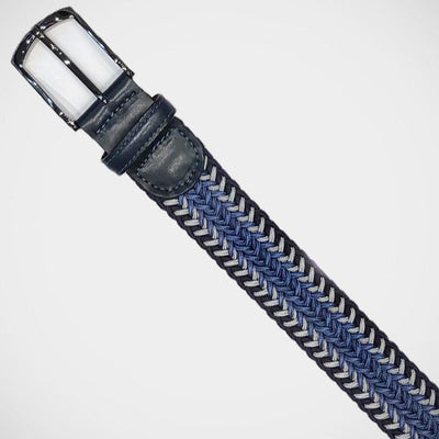 H. Halpern Esq. 'Blue Stretch Braid' Belt