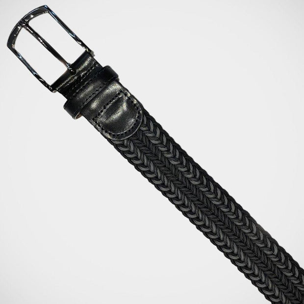 H. Halpern Esq. 'Black Stretch Braid' Belt