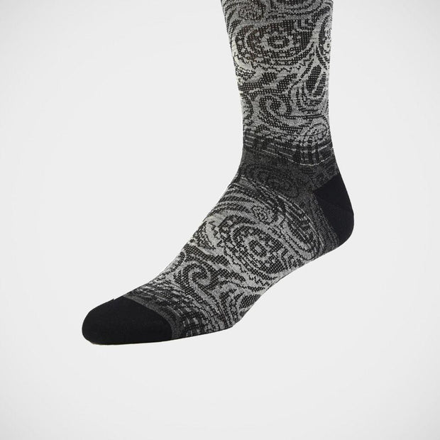 Dion 'Silver Paisley' Socks.