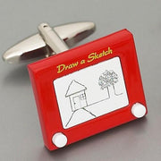 Weber 'Draw-A-Sketch' Cufflinks