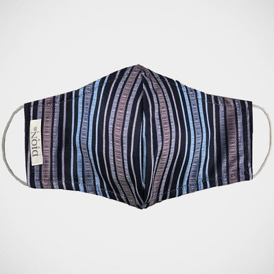 H. Halpern Esq. 'Blue & Purple Stripe' Non-medical Mask