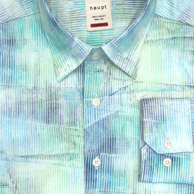 Haupt 'Creased Stripe - Green' Sport Shirt