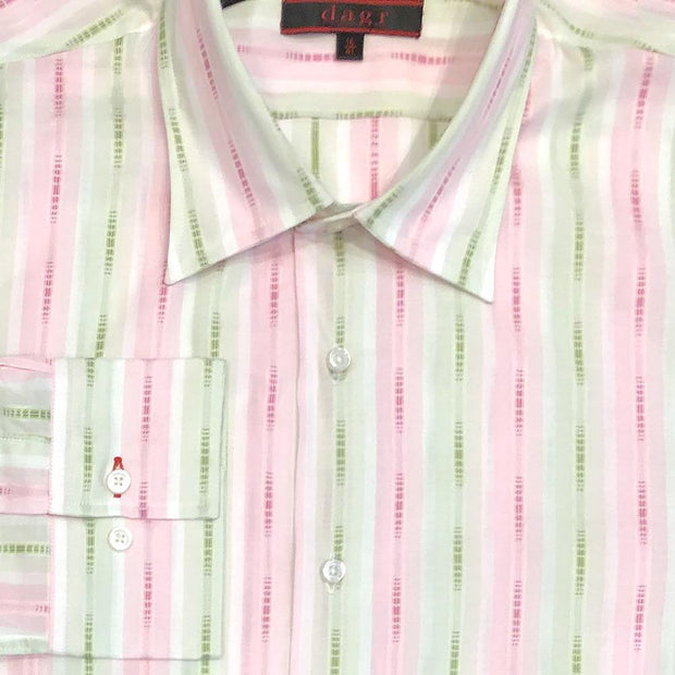 Dagr 'Pink & Green Stripe' Sport Shirt
