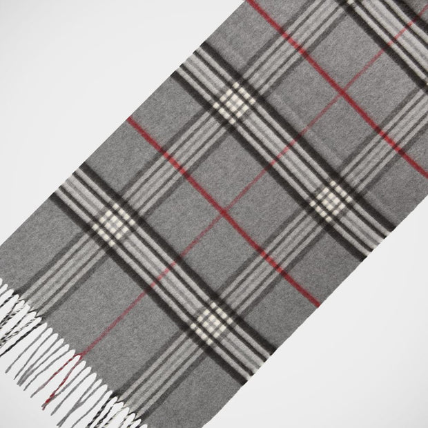 'Classic Check - Grey' Scarf