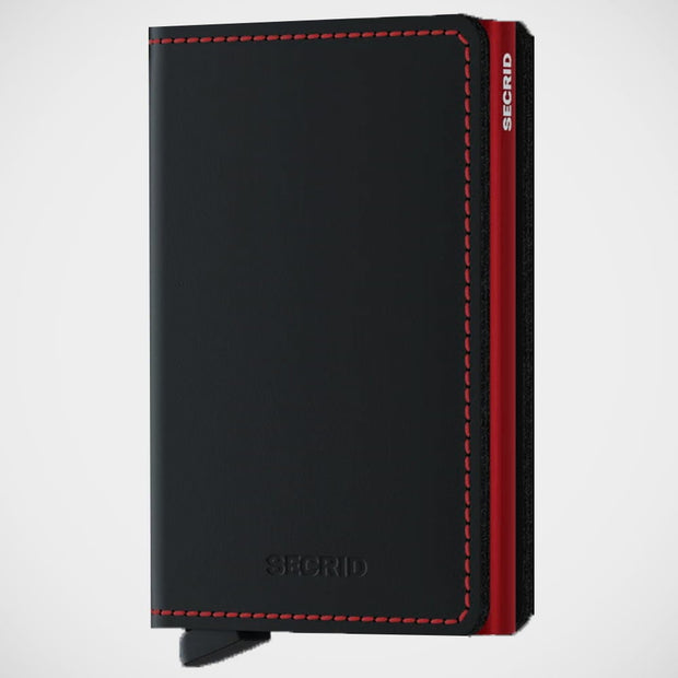 'Slimwallet - Matte Black-Red' Wallet