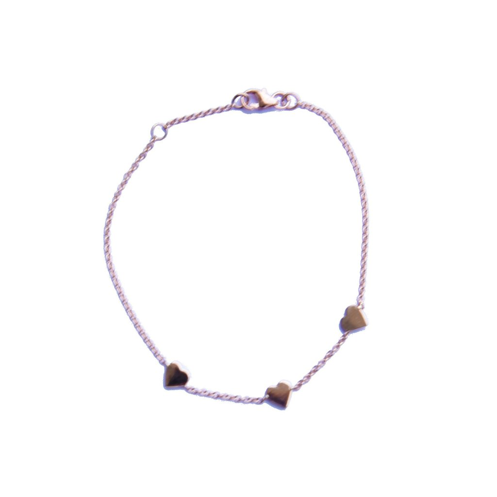 Triple Hearts in Chain Bracelet - EmersonRyder