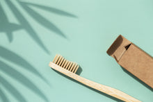 Load image into Gallery viewer, Bamboo Toothbrush with charcoal bristles
