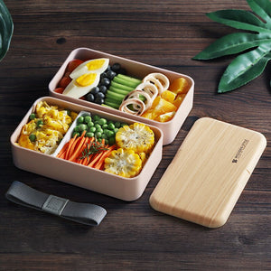 Wooden Double Layer Lunch Box