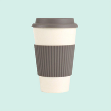 Load image into Gallery viewer, Bamboo Fibre Travel Coffee Cup