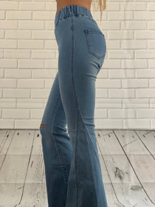 Make Me Denim Flares