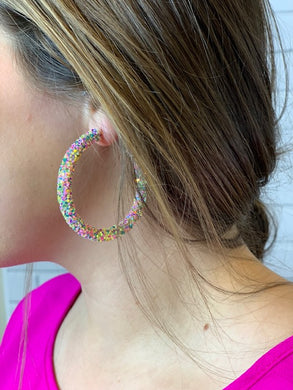 Glitter Multi Hoop Earrings