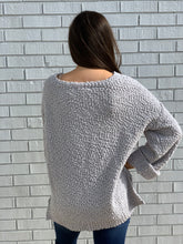 Load image into Gallery viewer, Let's be Grateful Gray Sweater