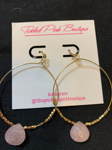 Light Pink/Gold Hoops