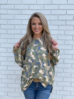 Shot in the Dark Camo Top
