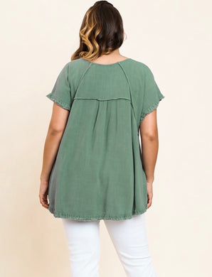 PLUS Dress It Up Ruffled Sleeve Top