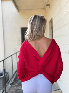 The Red Hot Twisted Sweater