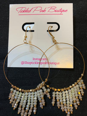 Beaded Chandelier  Hoops