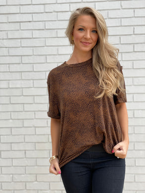 Think About Me Leopard Print top
