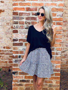 Harper Animal Print Skirt