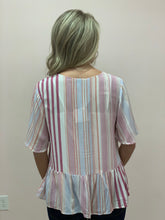 Load image into Gallery viewer, Spring is Here Striped Top