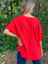Load image into Gallery viewer, Follow Me Red Blouse