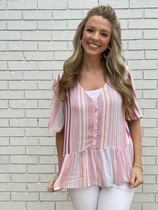 Spring is Here Striped Top