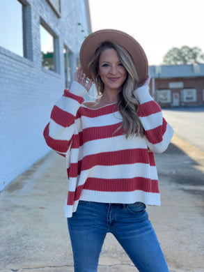 Meet Me at Sunset Striped Sweater