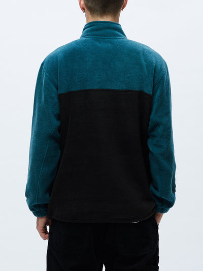 OBEY CHANNEL MOCK NECK HALF ZIP SWEATER