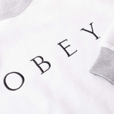 OBEY TROPHY REVERSE FLEECE CREWNECK SWEATER