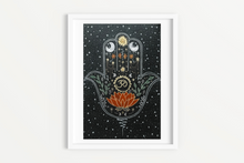 Load image into Gallery viewer, Spiritual Art Print - Hamsa