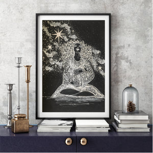 Woman Art Print - Mother of the Universe