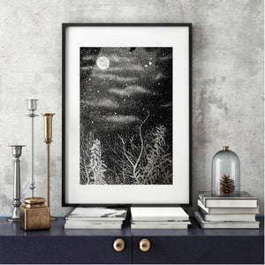 Art Print - Moon at Christie's