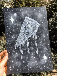Pizza Art Print - Cosmic Pizza