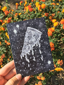 Greeting Card - Cosmic Pizza