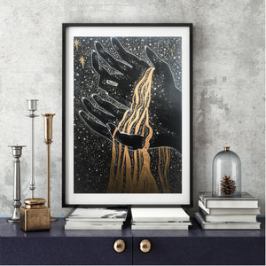 Celestial Art Print - The Universe in her Hands