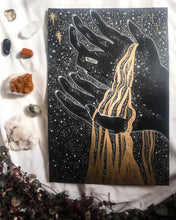 Load image into Gallery viewer, Celestial Art Print - The Universe in her Hands