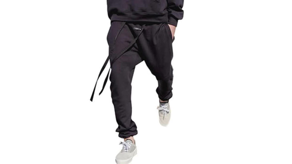 Mens Black Casual Wear Joggers